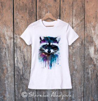 Дамска тениска с енот