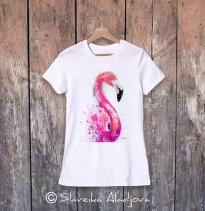 Дамска тениска - фламинго