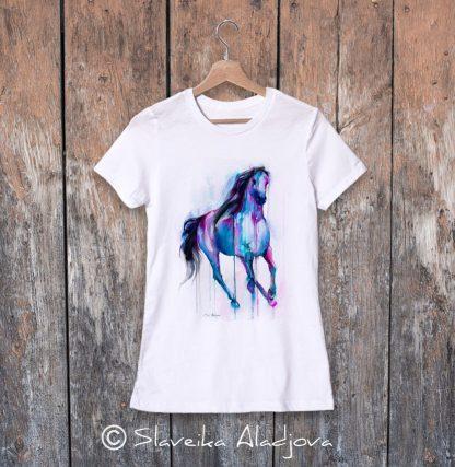 дамска тениска с кон