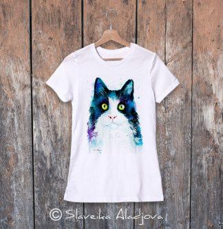 дамска тениска котка 2