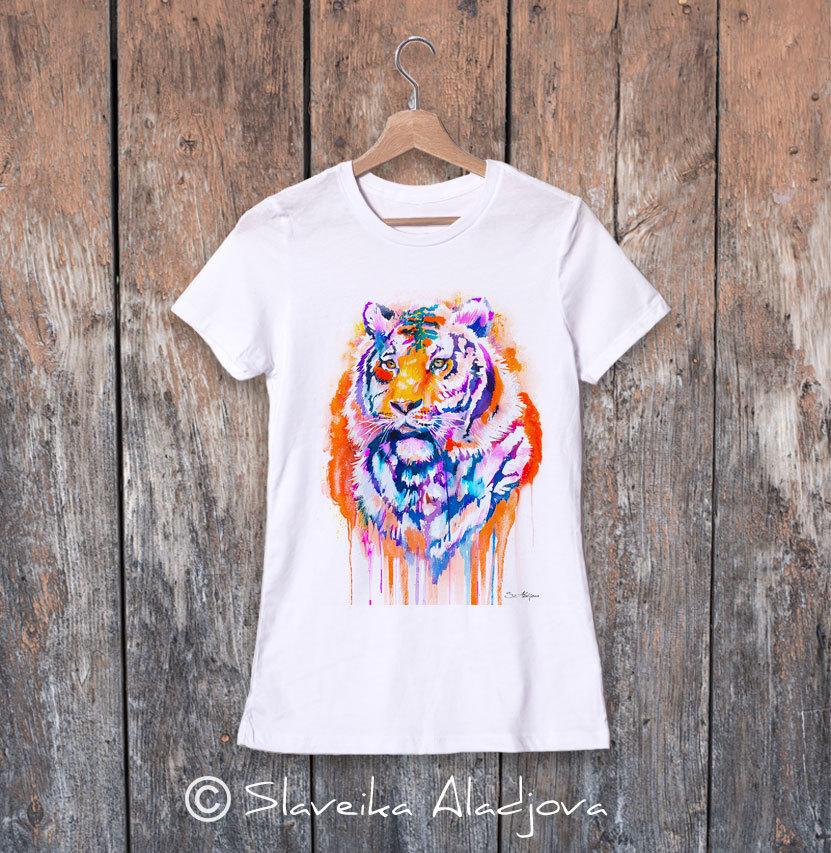 дамска тениска с тигър