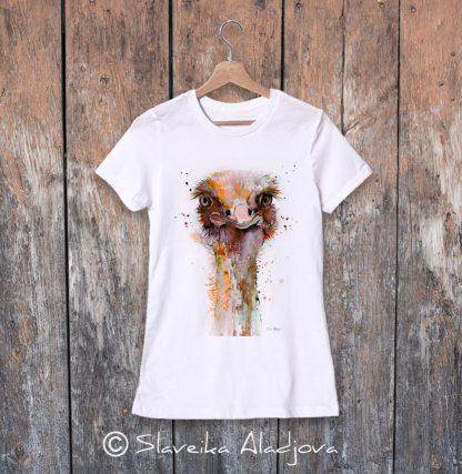 дамска тениска щраус