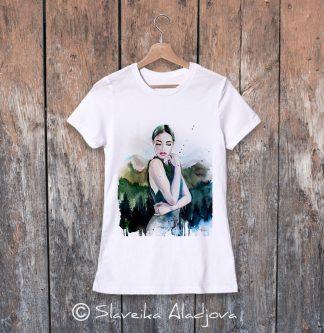 дамска тениска планинска жена 2