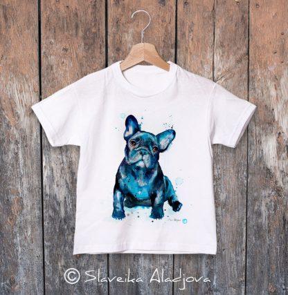 детска тениска с френски булдог