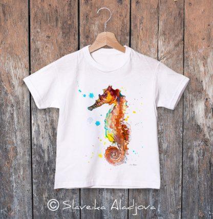 детска тениска морско конче 2