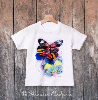 детска тениска с пеперуди