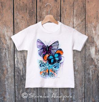 детска тениска пеперуди 2