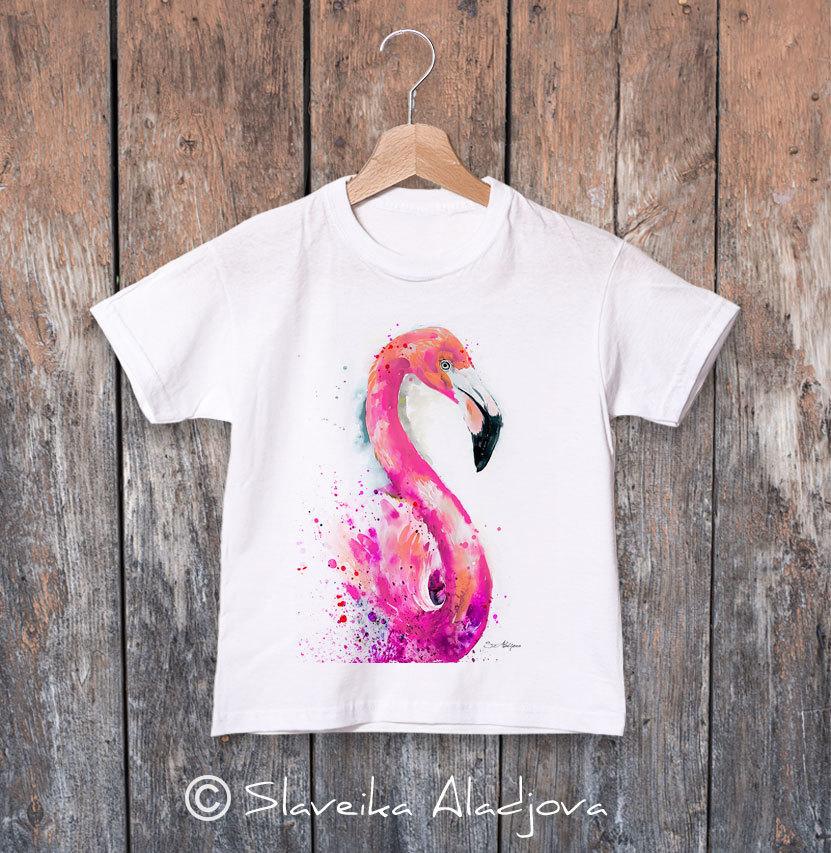 Детска тениска с фламинго