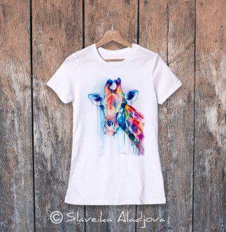 дамска тениска с жираф