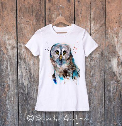 дамска тениска сова 3