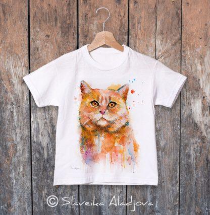 детска тениска с котка
