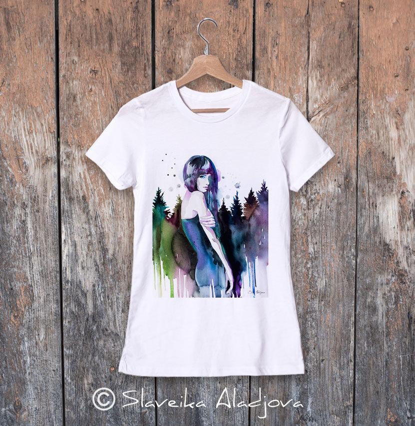 дамска тениска планинска жена