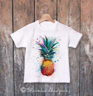 детска тениска ананас