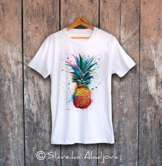 мъжка тениска ананас