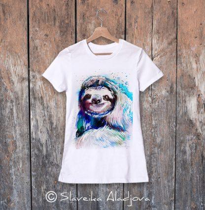 дамска тениска с ленивец