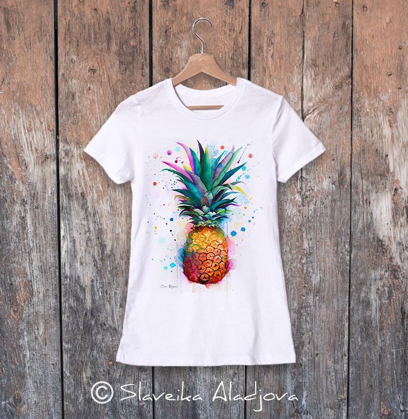 дамска тениска с ананас