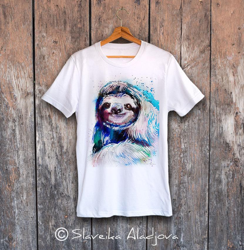 мъжка тениска с ленивец