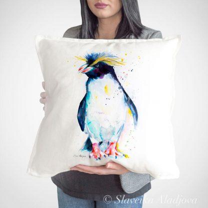 възглавница с пингвин