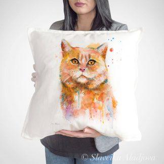 възглавница с котка