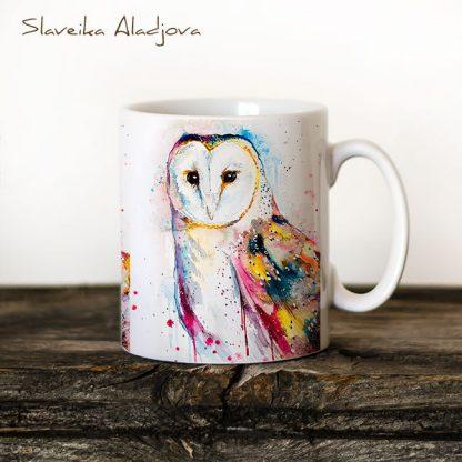 чаша със сова