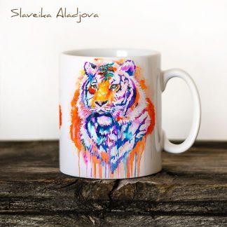 чаша с тигър
