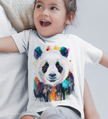 Детска тениска с цветна панда
