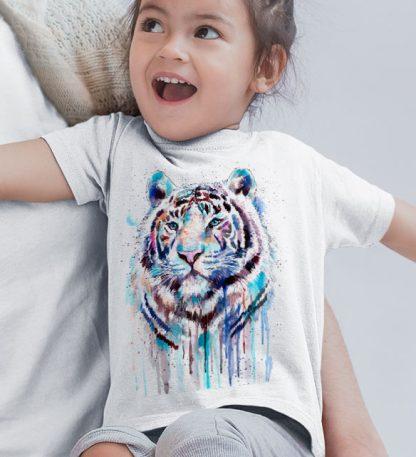 Детска тениска тигър бялi