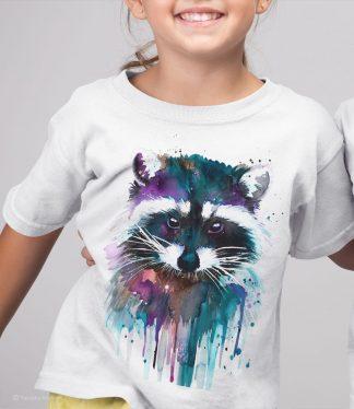 детска тениска с енот