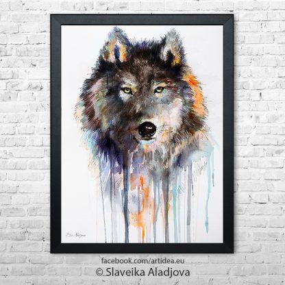 вълк кафяв