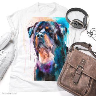 тениска с ротвайлер