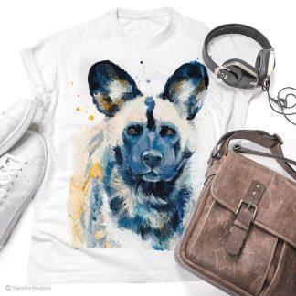 Тениска с диво куче