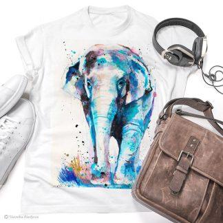 Тениска с азиатски слон