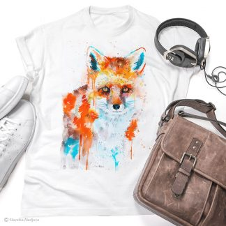 Тениска с лисица