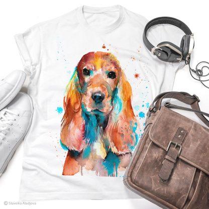 Тениска с куче кокер шпаньол