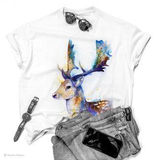 Тениска с елен лопатар