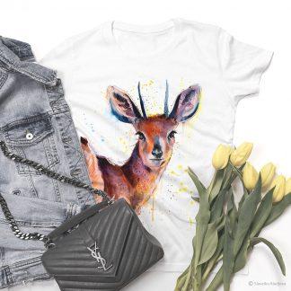 тениска с дребна африканска антилопа