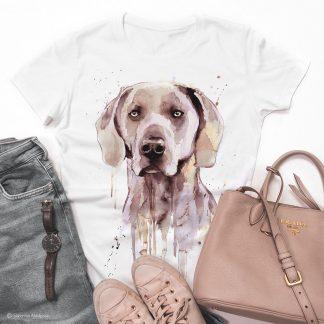 Унисекс тениска с куче ваймаранер