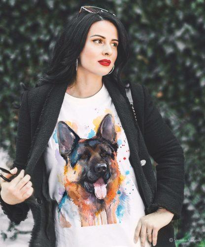 Оргинална тениска с куче немска овчарка