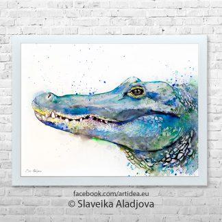 картина на алигатор