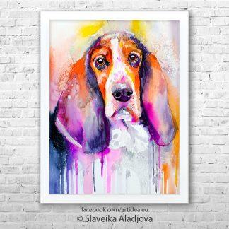 картина на ловджийско куче