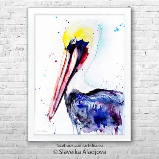 картина кафяв пеликан