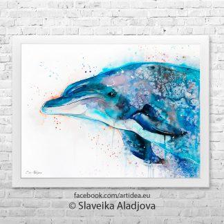 картина на делфин