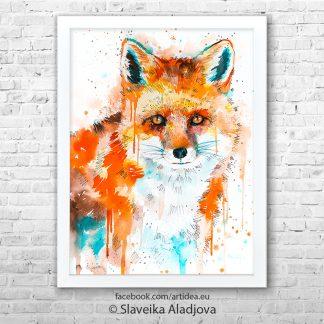 картина лисица 2