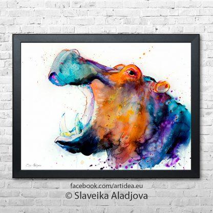 картина на хипопотам