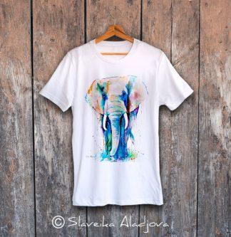 мъжка тениска африкански слон