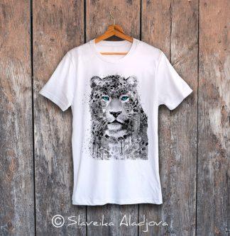тениска леопард сини очи