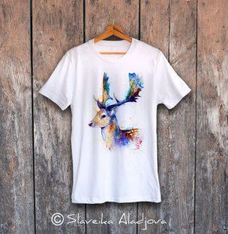мъжка тениска с елен лопатар