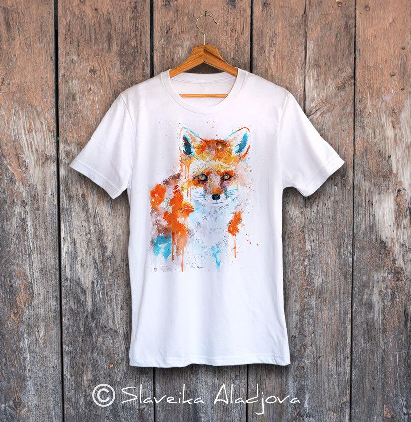 мъжка тениска лисица