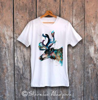 мъжка тениска северен елен