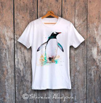 мъжка тениска с пингвин 2